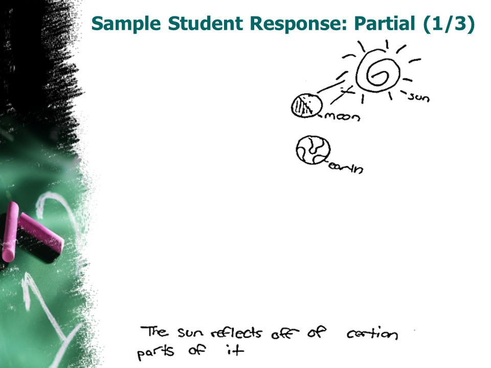 Sample Student Response: Partial (1/3)