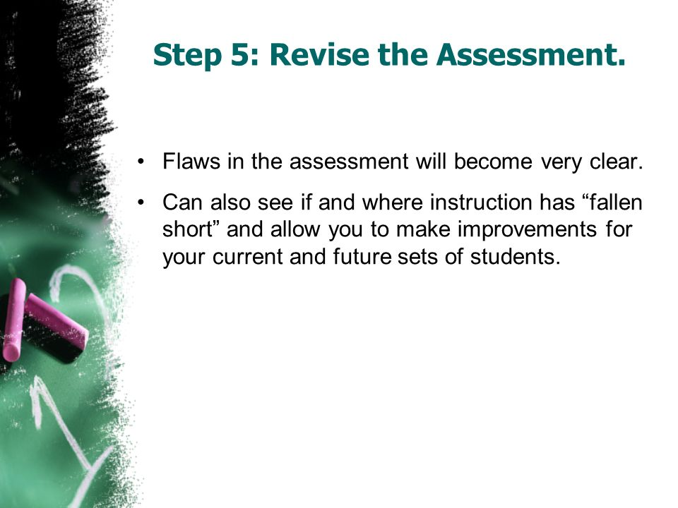 Step 5: Revise the Assessment.