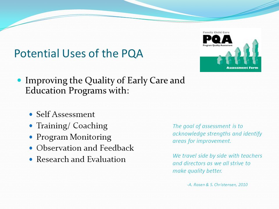 Potential Uses of the PQA