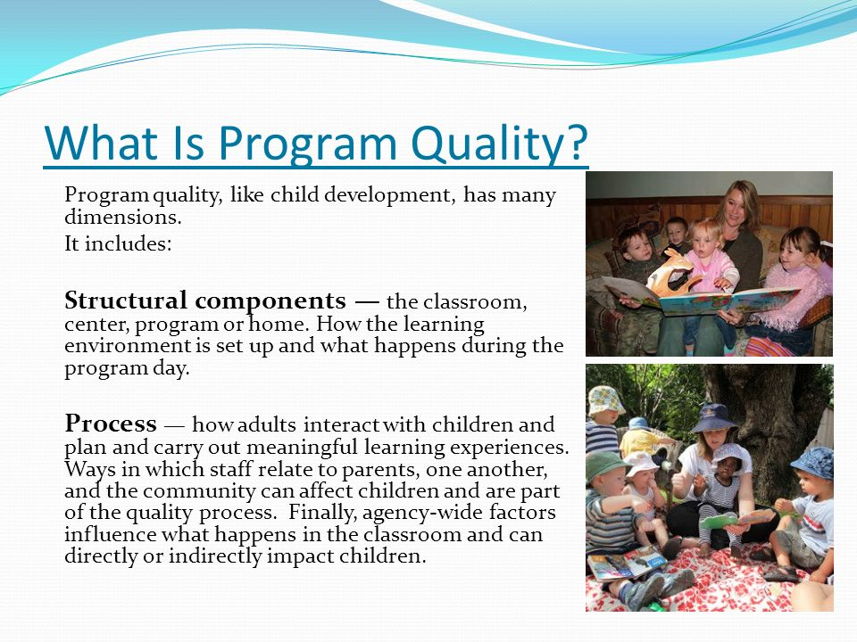 What Is Program Quality