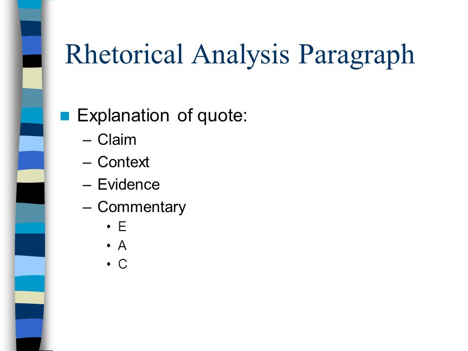 power of context rhetorical analysis One useful way to look at written arguments is to consider the context in which the text was written among the rhetorical elements outlined by lloyd bitzer in the rhetorical situation (philosophy and rhetoric, 1968), five are most likely to give readers insight into an argument essay: the motivation for the argument.