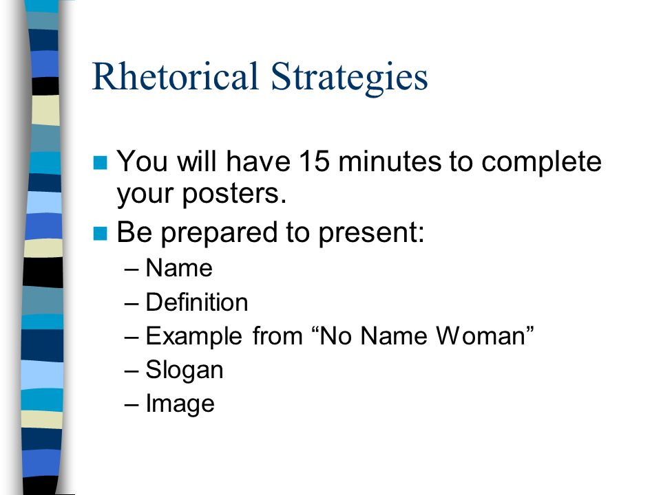 rhetorical strategies Rhetorical strategies :applied sciences position will have overall responsibility for facilitating, coordinating, and supporting learning programs to service.