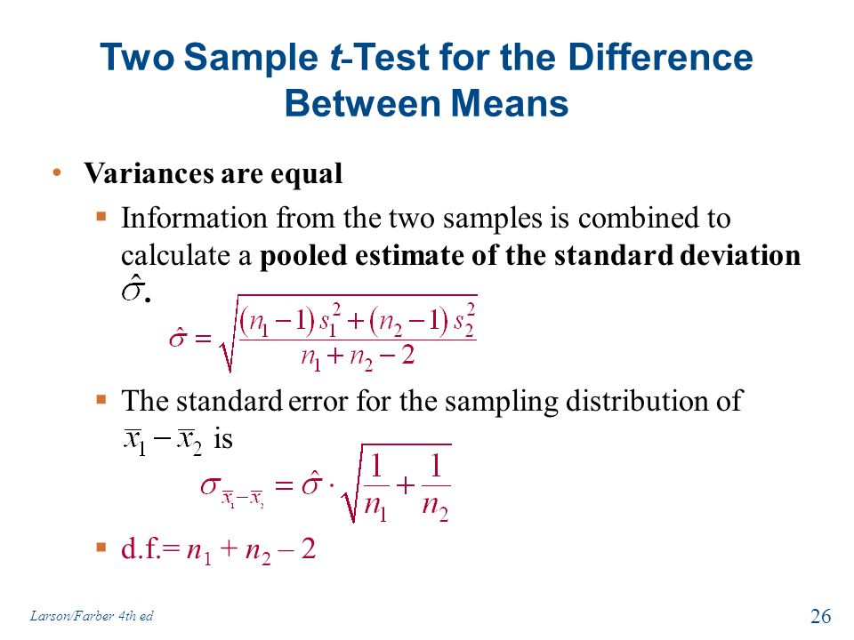 Hypothesis Testing with Two Samples - ppt download