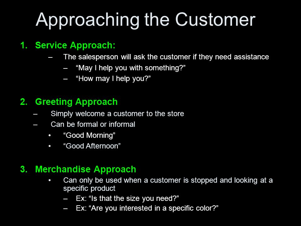 how to ask customers if they need help