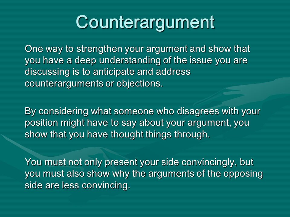 Argument and counter-argument essay