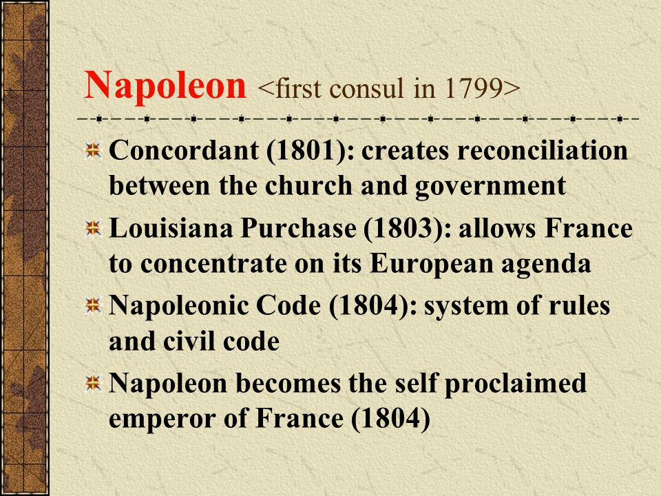 Napoleon <first consul in 1799>