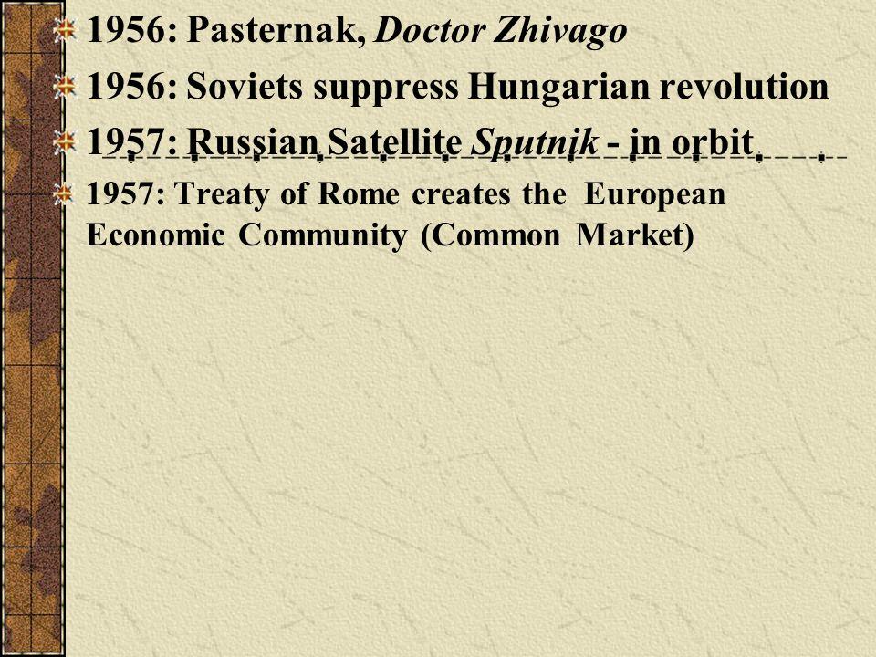 1956: Pasternak, Doctor Zhivago
