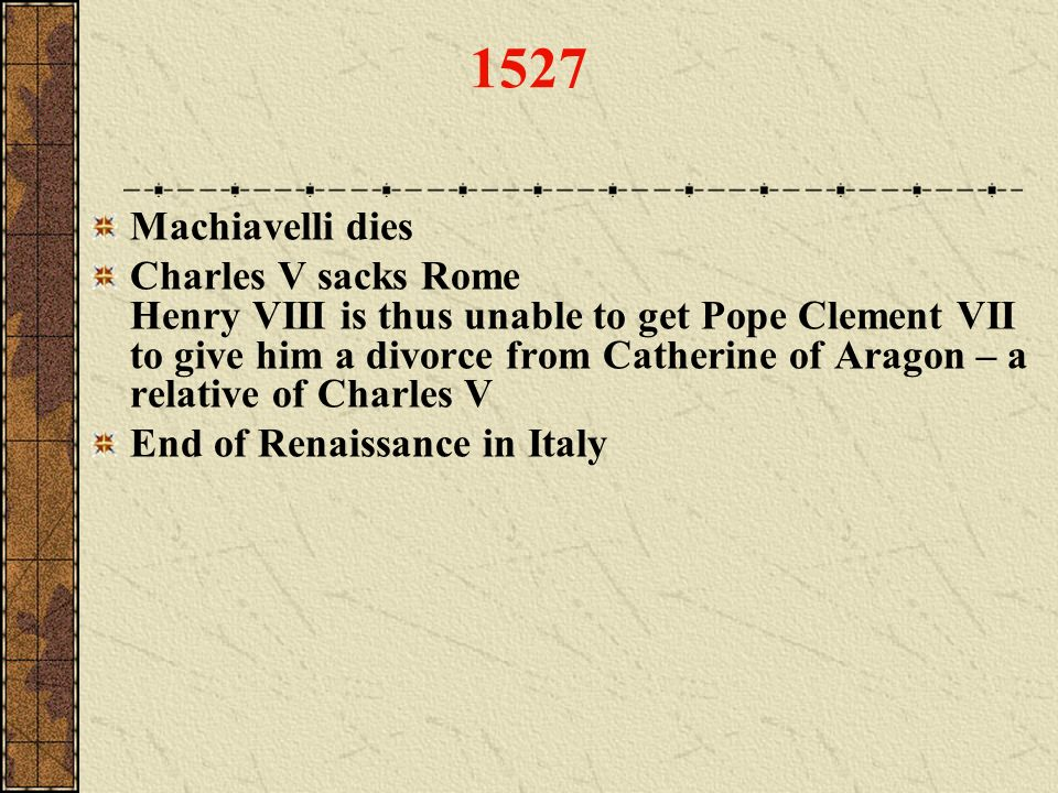 1527 Machiavelli dies.