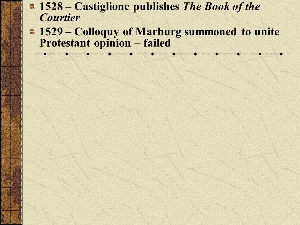 1528 – Castiglione publishes The Book of the Courtier