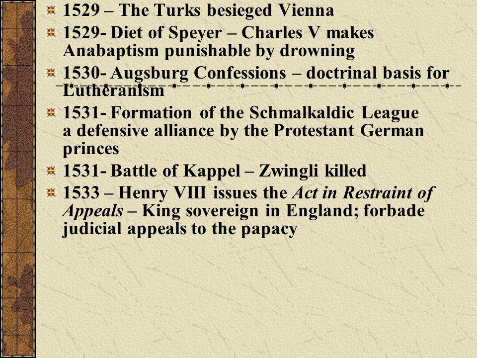 1529 – The Turks besieged Vienna