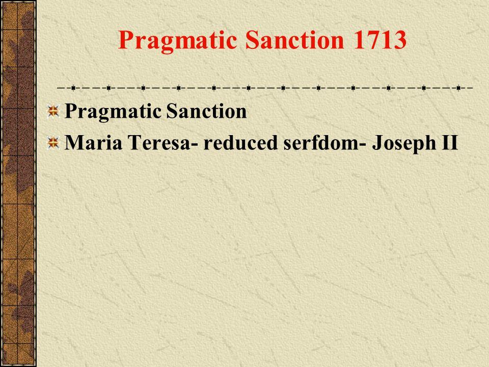 Pragmatic Sanction 1713 Pragmatic Sanction