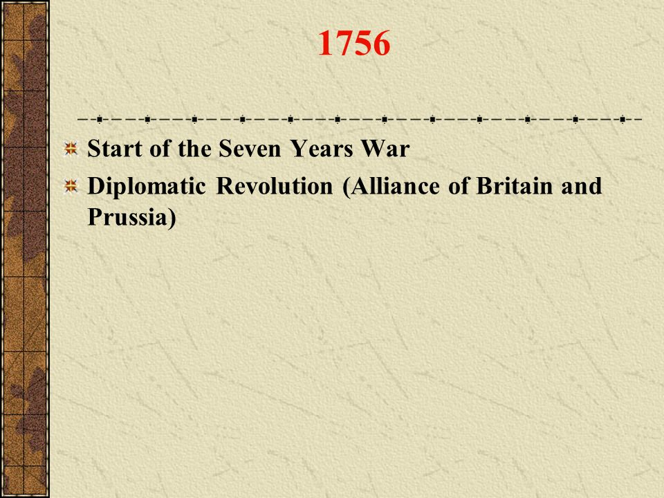 1756 Start of the Seven Years War