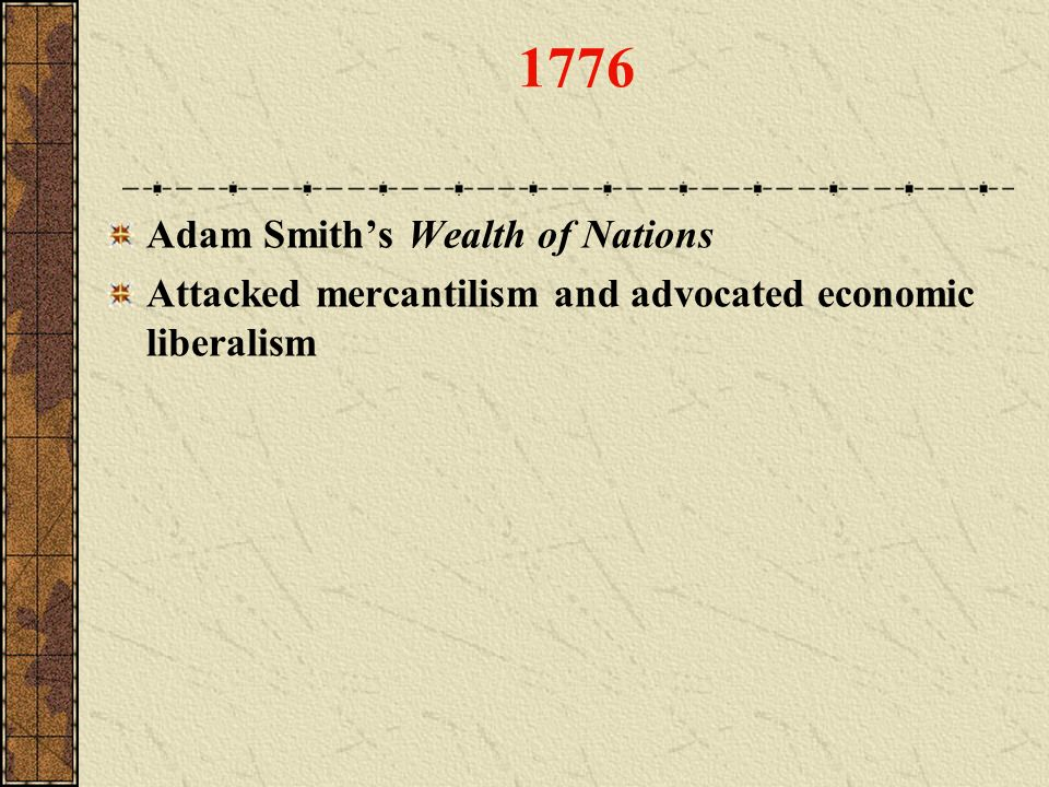 1776 Adam Smith's Wealth of Nations