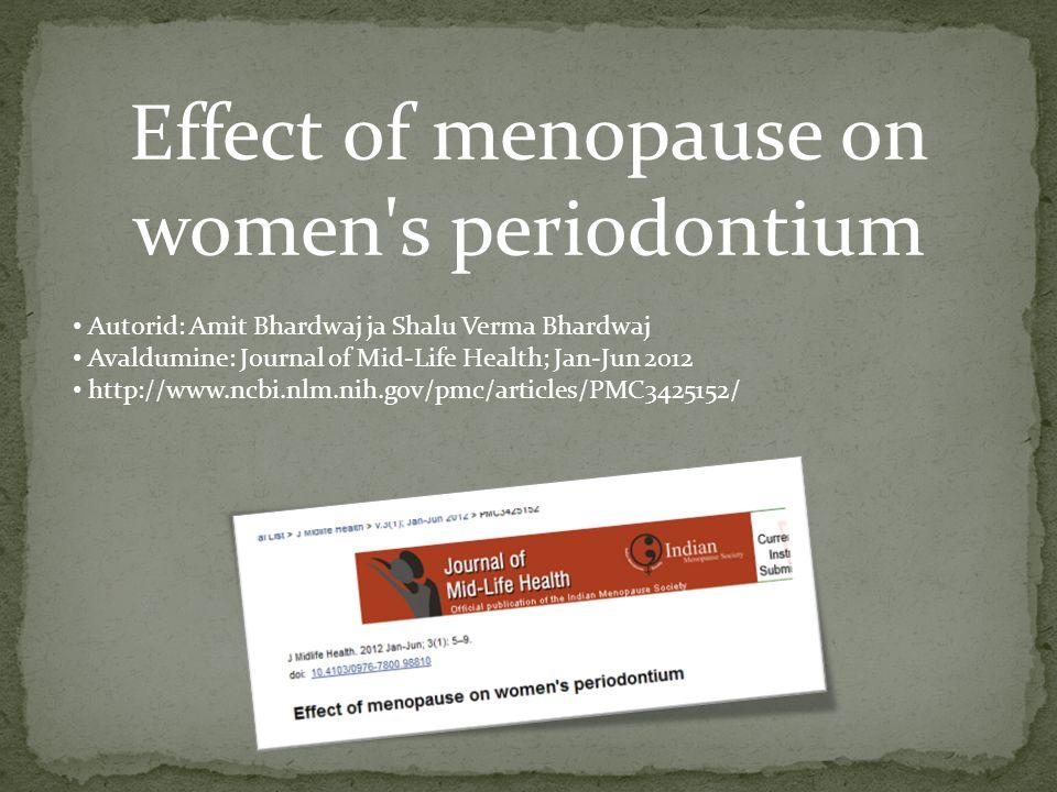 menopausi sümptomid