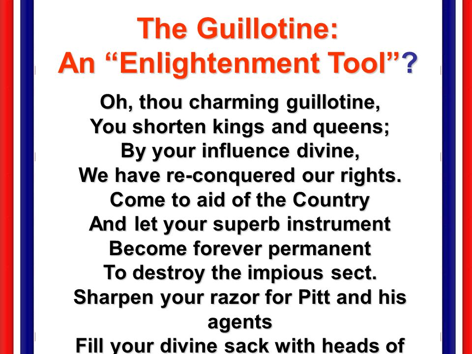 The Guillotine: An Enlightenment Tool