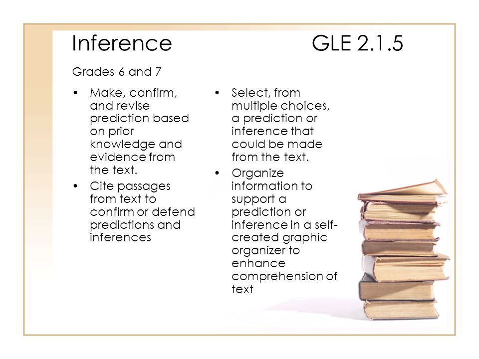 Inference GLE 2.1.5 Grades 6 and 7