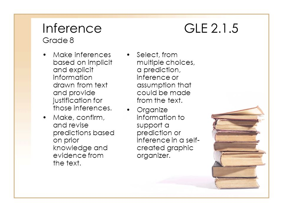 Inference GLE 2.1.5 Grade 8