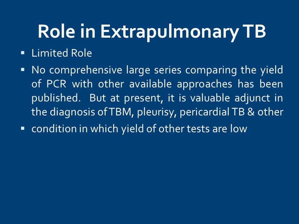 Role in Extrapulmonary TB