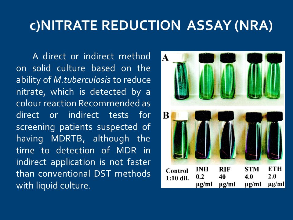 c)NITRATE REDUCTION ASSAY (NRA)