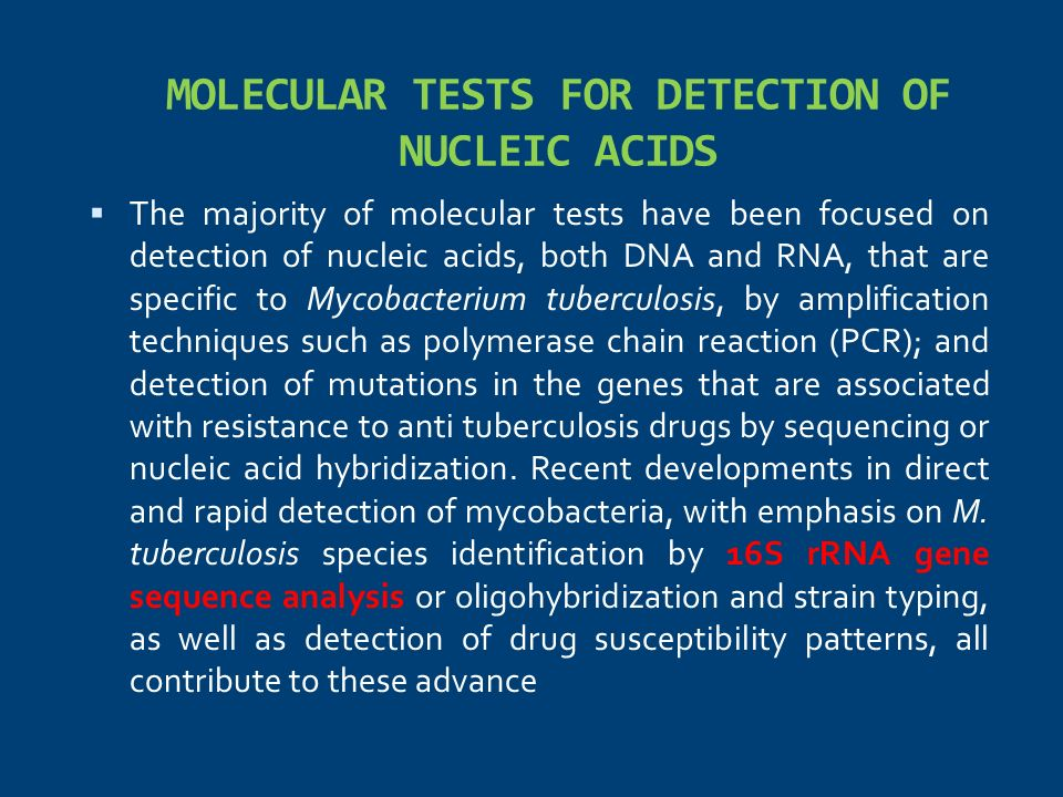 MOLECULAR TESTS FOR DETECTION OF NUCLEIC ACIDS