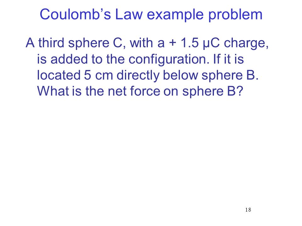 Coulomb's Law example problem