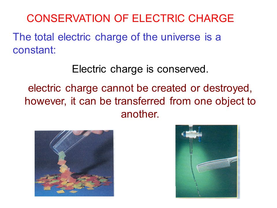 Electric charge is conserved.