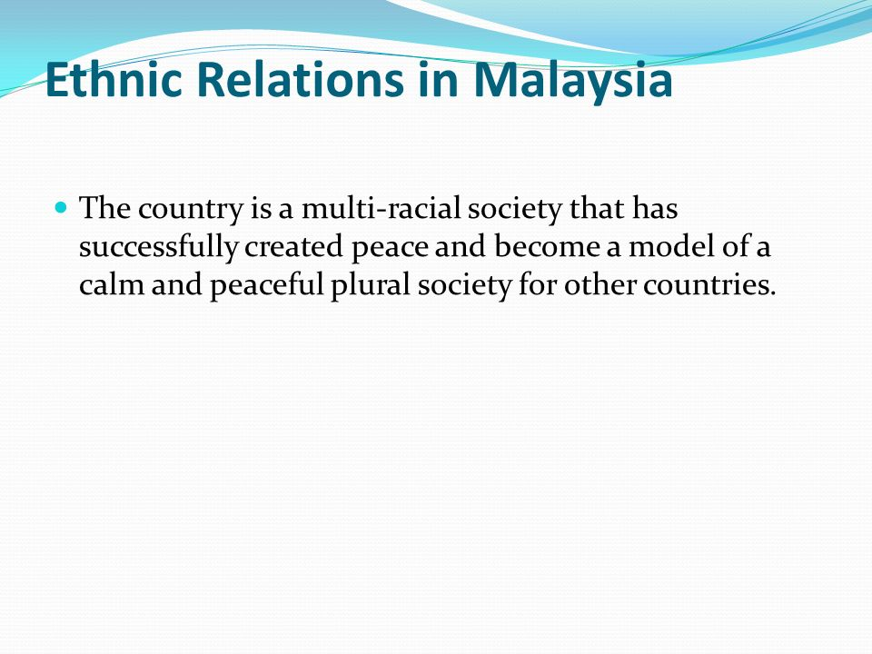 ethnic relation in plural society Governance and conflict resolution in multi-ethnic if institutions are created for a multi-ethnic plural relations to deal with the problems.