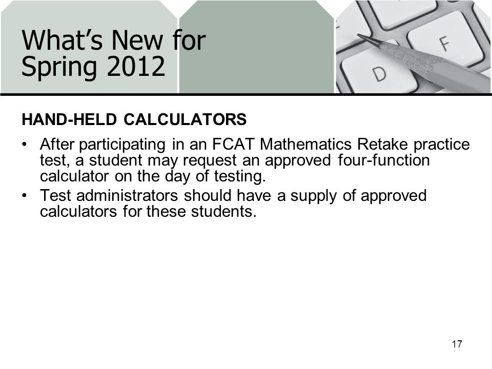What's New for Spring 2012 HAND-HELD CALCULATORS