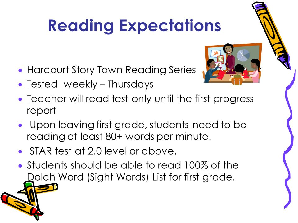Reading Expectations Harcourt Story Town Reading Series