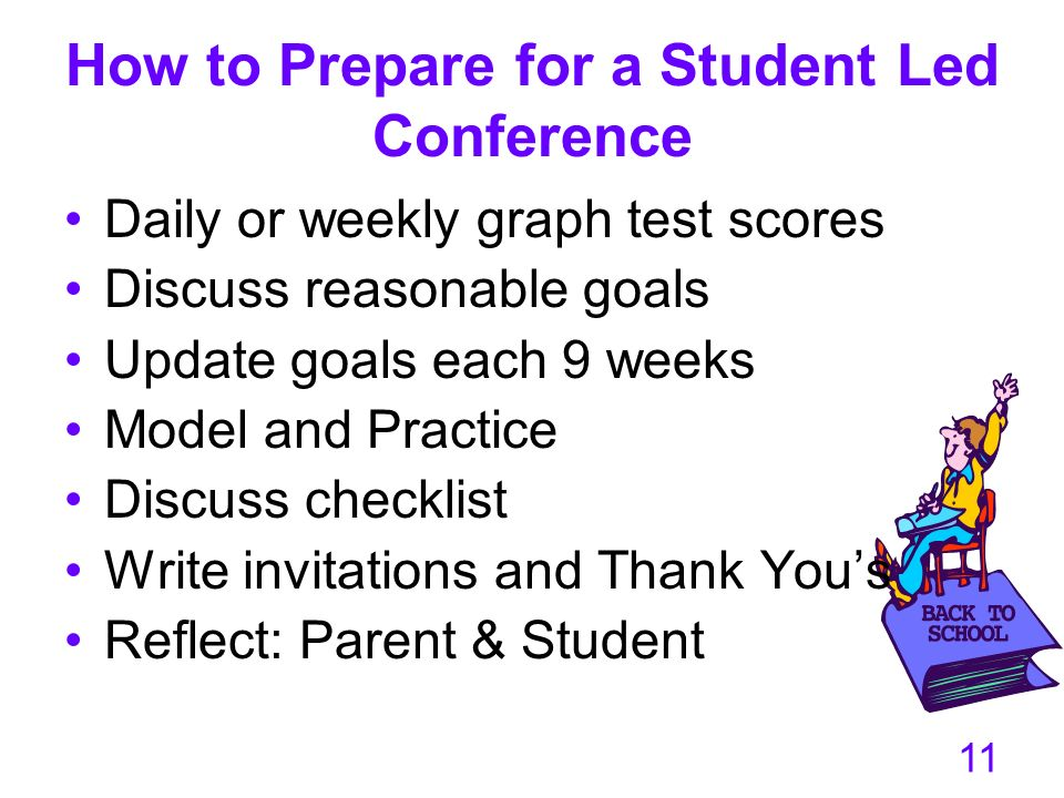 How to Prepare for a Student Led Conference