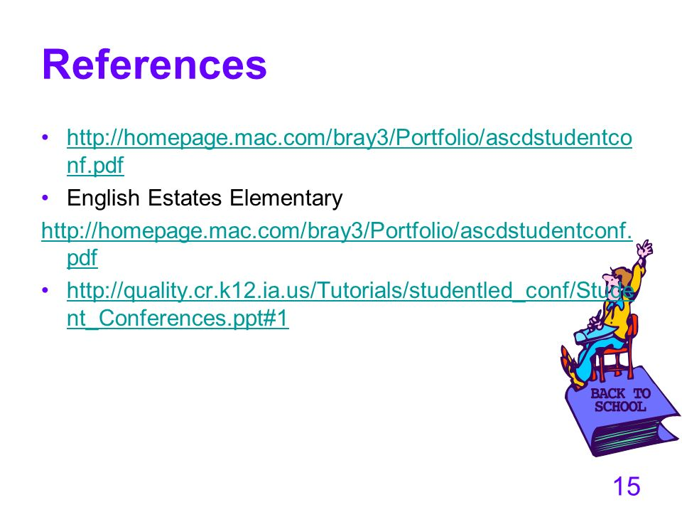 References http://homepage.mac.com/bray3/Portfolio/ascdstudentconf.pdf