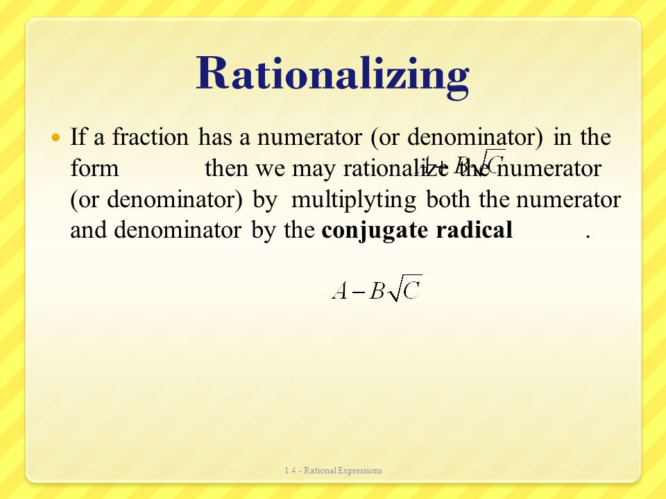 Section 1.4 Rational Expressions - ppt video online download