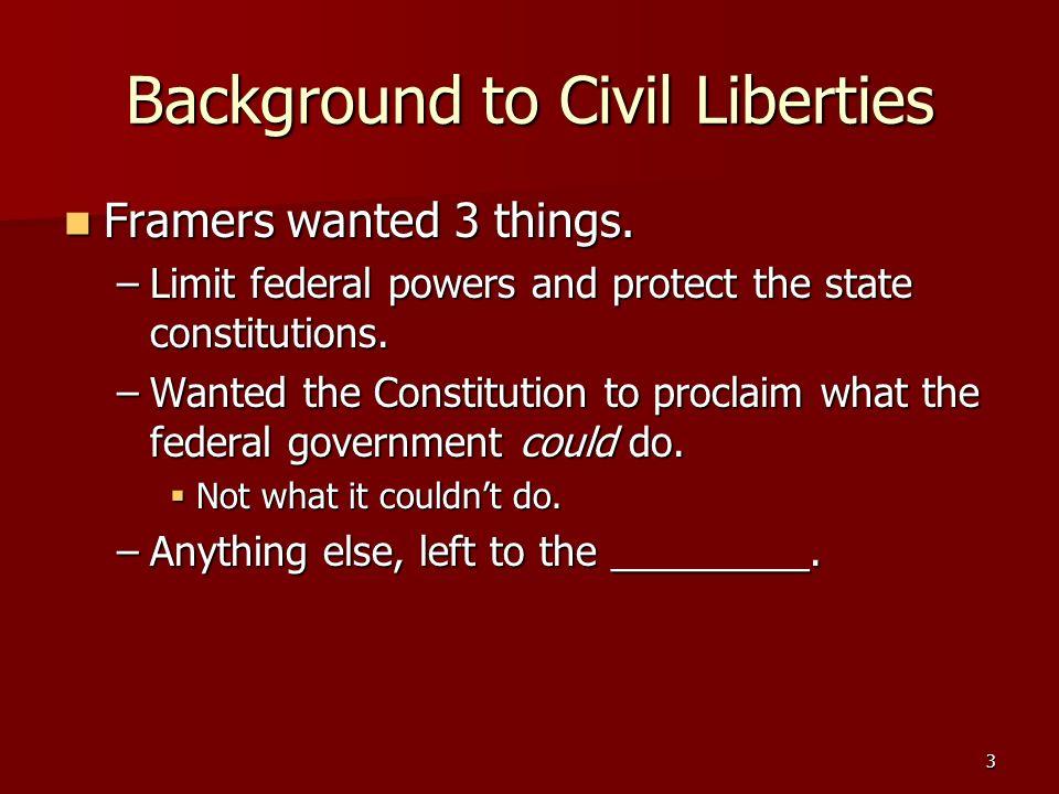 Background to Civil Liberties