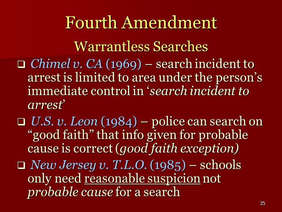 Fourth Amendment Warrantless Searches