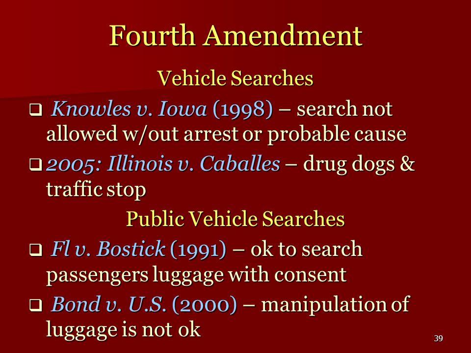Public Vehicle Searches