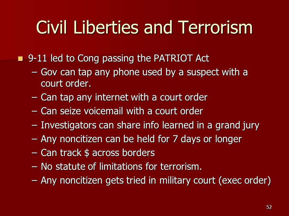 Civil Liberties and Terrorism
