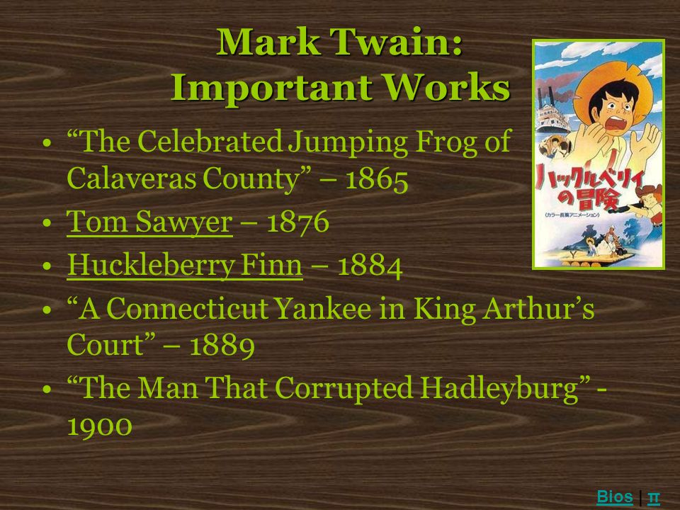 Mark Twain: Important Works