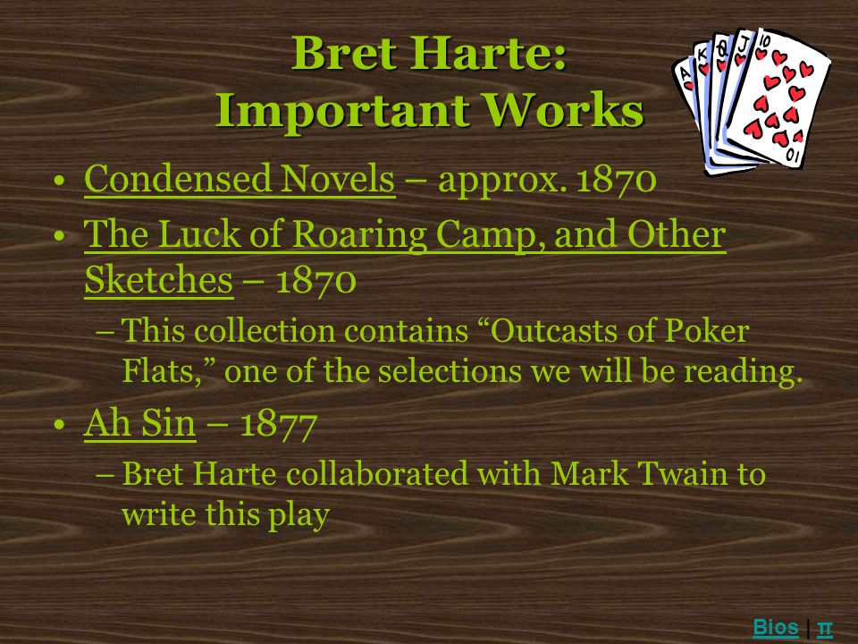 Bret Harte: Important Works