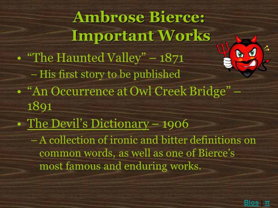 Ambrose Bierce: Important Works