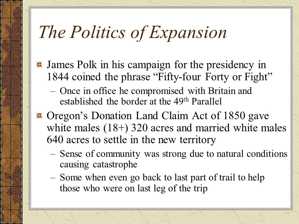 The Politics of Expansion