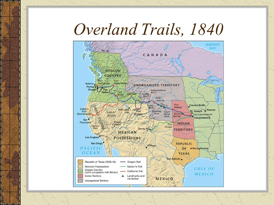Overland Trails, 1840