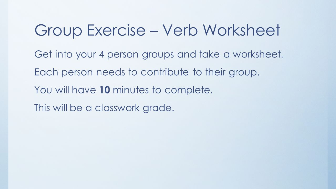 Uncategorized Linking Verb Worksheets day 9 verbs and commercialliterary fiction ppt download group exercise verb worksheet