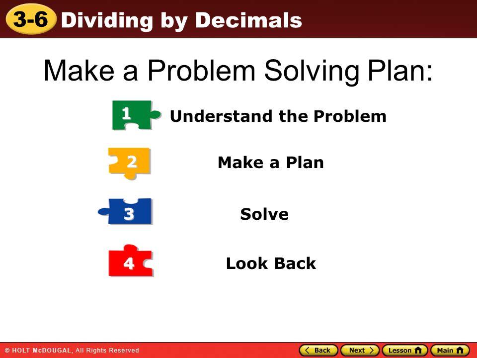 Make a Problem Solving Plan: