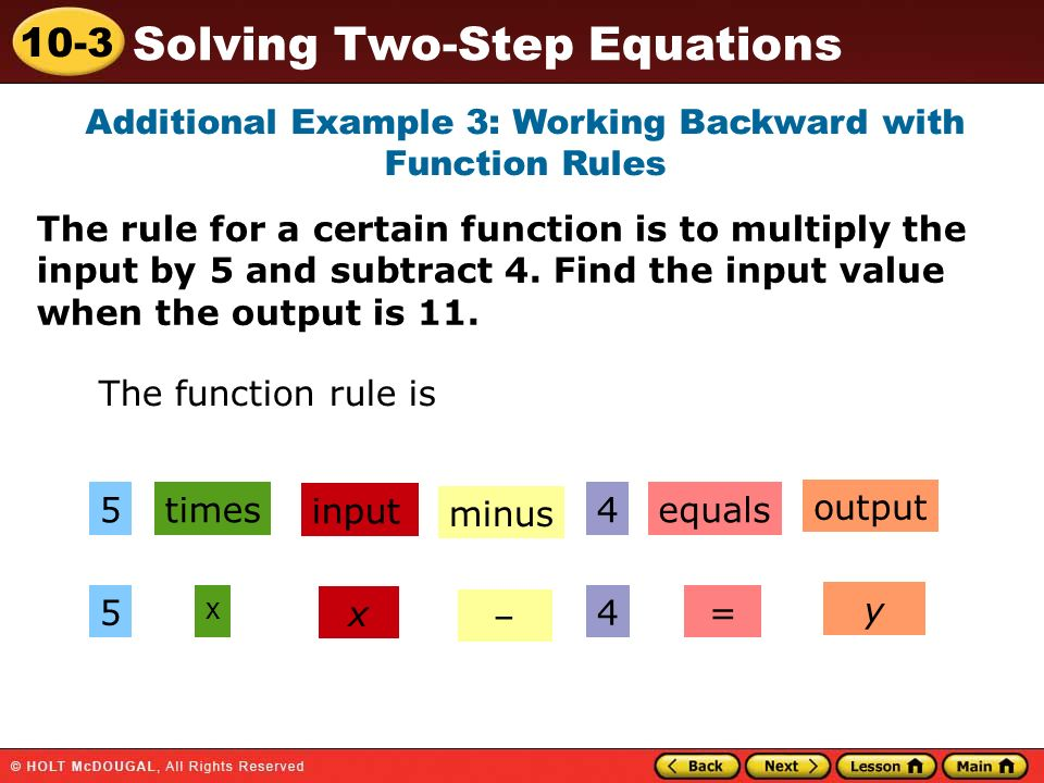Additional Example 3: Working Backward with Function Rules