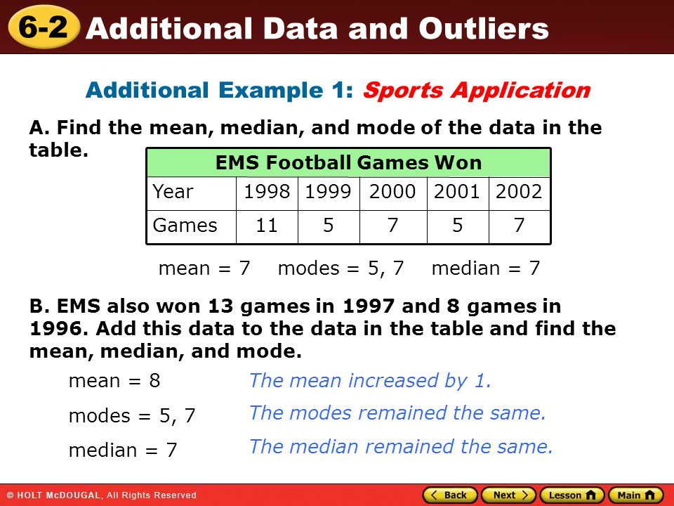 Additional Example 1: Sports Application