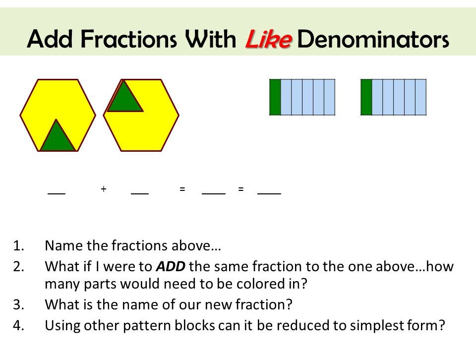 how to add mixed fractions with the same denominators