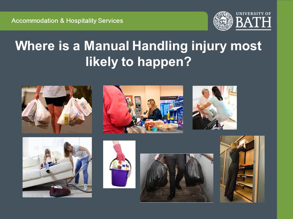 common injury poor manual handling