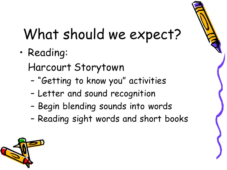 What should we expect Reading: Harcourt Storytown