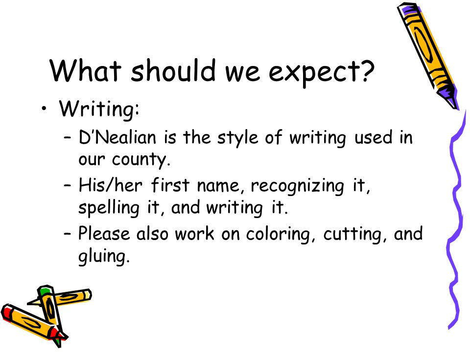 What should we expect Writing: