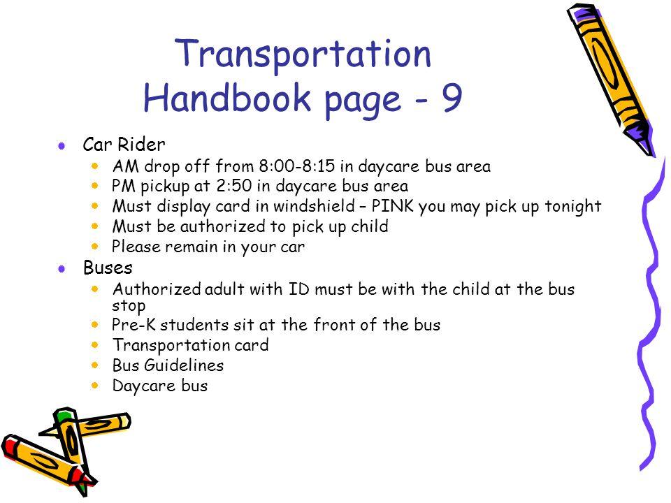 Transportation Handbook page - 9